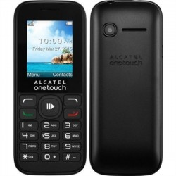 "Celular Alcatel Feature Phone 1050E 1.8"" negro Dual Sim FM Radio Camara"