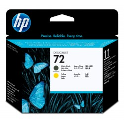 CABEZAL HP MATTE BLACK Y AMARILLO No 72  T1100   T610