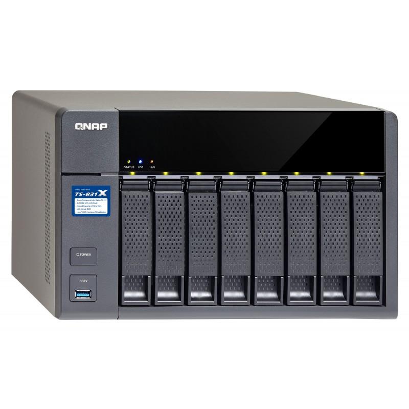 Sistema De Almacenamiento Qnap TS-831X-4G-US 48TB 8 Bahias 8 Discos De 6TB