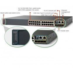 Switch Cisco Catalyst 2960X 24 puertos GigE PoE