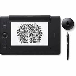 Tableta Digitalizadora Wacom PTH660 Bluetooth Intuos Pro Lapiz Touch Mediana Negra