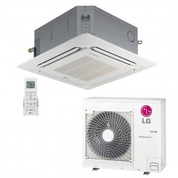 AIRE ACONDICIONADO LG TIPO CASSETTE 4 VIAS  9.600 - 27,300 BTUH Compresor Inverter Refrigerante R-410A