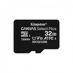 Memoria Kingston micro SD con adaptador  Canvas Select Plus Clase 10  85MB/100MB 32GB