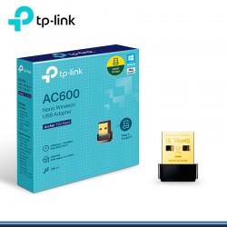 Adaptador Tp-Link Archer T2U Nano AC600 Inalambrico Dual Band USB 433Mbps 5Ghz 2.4Ghz