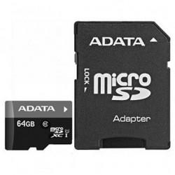 Memoria MicroSD Adata 64GB Adaptador SD Clase 10