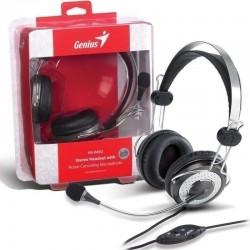 Diadema Audifono Genius Hs-04sU Con Microfono Doble Plug 3.5mm