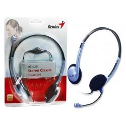 Diadema Audifono Genius HS-02B Doble Plug 3.5mm Microfono Giratorio