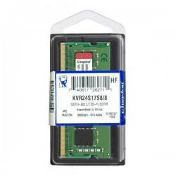 Memoria Para Portatil Kingston 8GB 2400Mhz DDR4 Non-ECC Sodimm 1Rx8