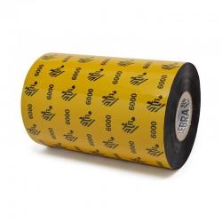 """Cinta Zebra Cera 06000BK11045 110mm x 450Mts 1"""" Etiquetas"""
