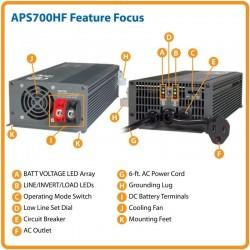 Inversor Cargador Tripp Lite 700w APS700HF PowerVerter APS