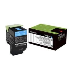 Toner Lexmark 70C8HC0 Cyan 708HC 3.000 Paginas Para CS310 CS510