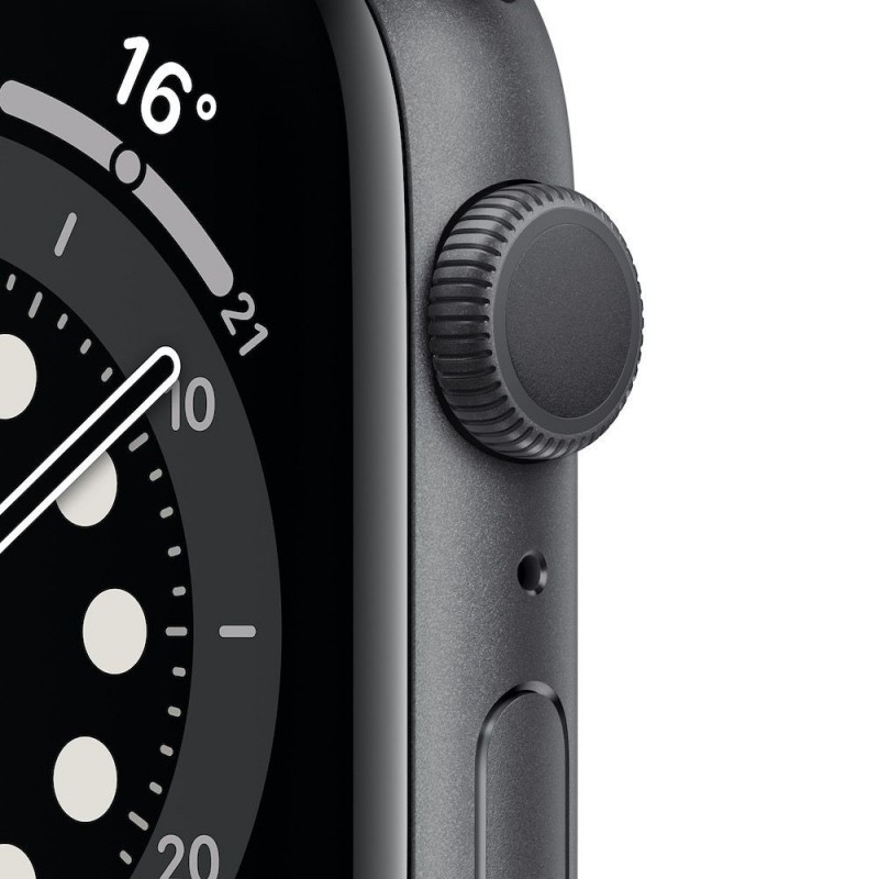 Apple Watch Series 6 GPS, 44mm Space Gray Aluminium Case with Black Sport Band - Imagen 1