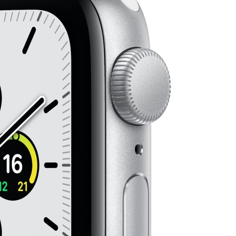 Apple Watch SE GPS, 40mm Silver Aluminium Case with White Sport Band - Imagen 1