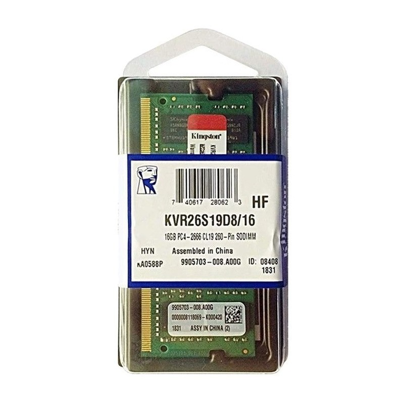 Memoria ram kingston para portatil 16GB DDR4 2666MHz