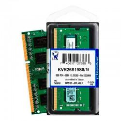 Memoria Para Portatil Kingston 16GB DDR4 2666Mhz KVR26S19S8/16