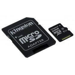 64GB microSDHC Class 10 UHS-I 45MB s Read Card + SD Adapter